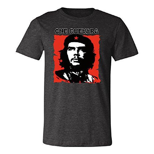 Ernesto Che Guevara Poster Men's T-Shirt Souvenir Tee Dark Grey Heather XXX-Large