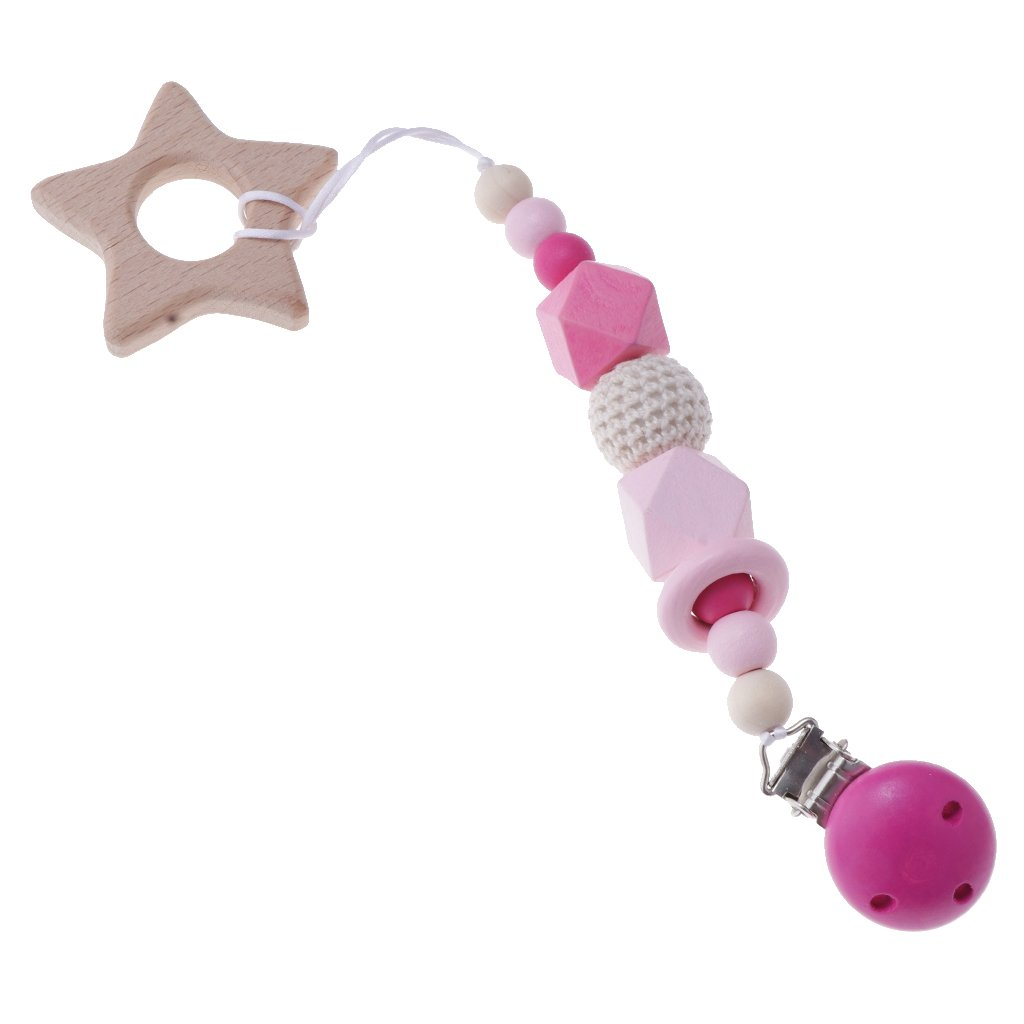 Prettyia Dummies Clips, Holder / Dummy / Pacifier / Chain / Teether ...