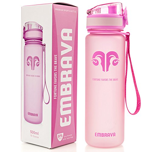 Best Sports Water Bottle - 18oz Small - Eco Friendly & BPA-Free (Plastic Water)