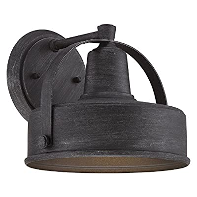 "Designers Fountain 33121-WP Portland-DS 7"" Wall Lantern, Dark Sky"