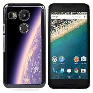 - earth planet atmosphere purple universe cosmos/ Duro Snap en el tel??fono celular de la cubierta - Cao - For LG Google Nexus 5X
