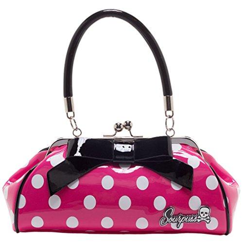 Sourpuss, sac à main rose pour femmes taille unique