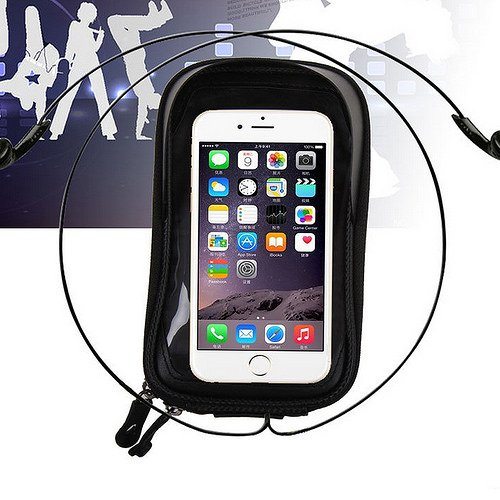 GranVela® Cycling Bike Front Frame Bag Tube Pannier Double Pouch Bicycle Front Tube Cell Phone Bag with Touch Screen Phone Case