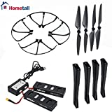 MJX B3 Spare Parts, Hometall Full Set Replacement Accessories for MJX Bugs 3 Drone with 4 Propellers, 4 Prop Guards, 4 Landing Gears, 2PCS 7.4V 1800mAh 25C LiPo Batteries&2 in 1 Battery Charger