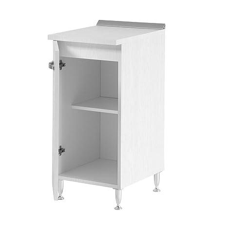Mobile base multiuso 1 anta ripiano interno bianco frassinato cucina ...