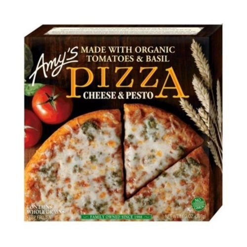 UPC 042272001903, Amy's Cheese Pesto Pizza with Whole Wheat Crust, Organic, 14-Ounce Boxes (Pack of 8)