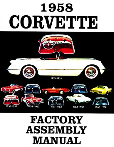 COMPLETE 1958 CHEVY CORVETTE FACTORY PARTS ASSEMBLY INSTRUCTION MANUAL For All - Fender Bolts Bracket