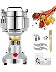 CGOLDENWALL Electric Grain Mill 300g Spice Herb Grinder Upgraded Open-cover-stop Safety Design Puerizer Super fine Powder Machine for Spice Herbs Grains Coffee Rice Corn Sesame Soybean Fish Feed Pepper Medicine with CE Certificate 110V