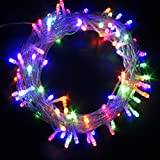 100 LED Battery Power Operated String Fairy Lights Christmas Xmas Tree Garden Party Wedding Indoor & Outdoor Decoration (100LEDs, Multi)
