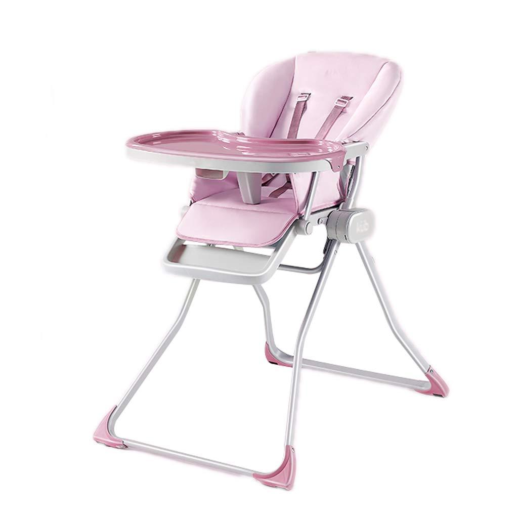 子供用ダイニングチェア、リムーバブル多機能マルチギア調整快適なダイニングテーブルスツール、0-3歳の子供用 (色 : Pink)  Pink B07KS86TCB