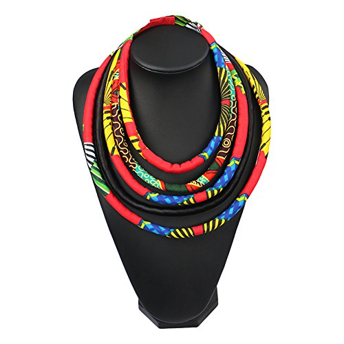[African Necklaces Ankara Handmade Jewelry Accessory Sets Waxed Fabric Multi] (Balls To The Wall Costume)