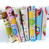 Cartoon 7 Fat Quarters Bundle Cotton Fabric for Quilting 40*50cm - CartoonSeries by Worldcom Generic