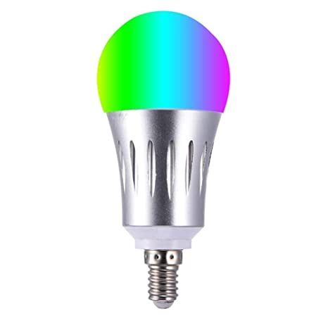 Yeahlvy WiFi La Bombilla LED Inteligente Lámpara Regulable de 7W RGB E14/E27 Funciona con