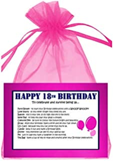 18th BIRTHDAY SURVIVAL KIT PINK GIFT CARD PRESENT