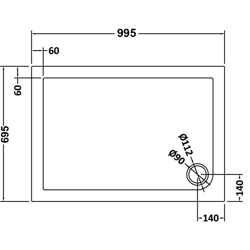 ELEGANT 1200 x 900 mm Sliding Corner Entry Shower Enclosure Door Cubicle with Tray