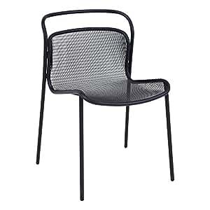 EMU Modern silla de jardín, polvo de color negro. Medidas 55x 78x 59cm
