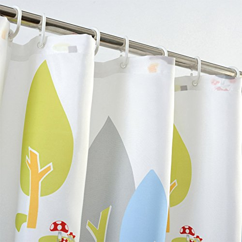 Cute Cartoon Tree Shower Curtain,Mildew Resistant Environmental Fabric Polyester Shower Curtain for Home,Hotel ,80x80inch