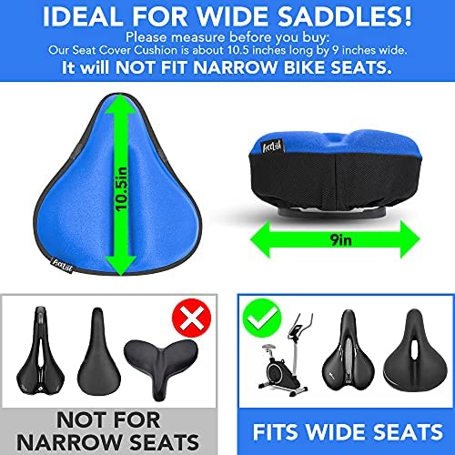Extra Soft Gel Details about  /Acelist Gel Bike Seat Cover Exercise Bike Seat Cushion Cover Pad