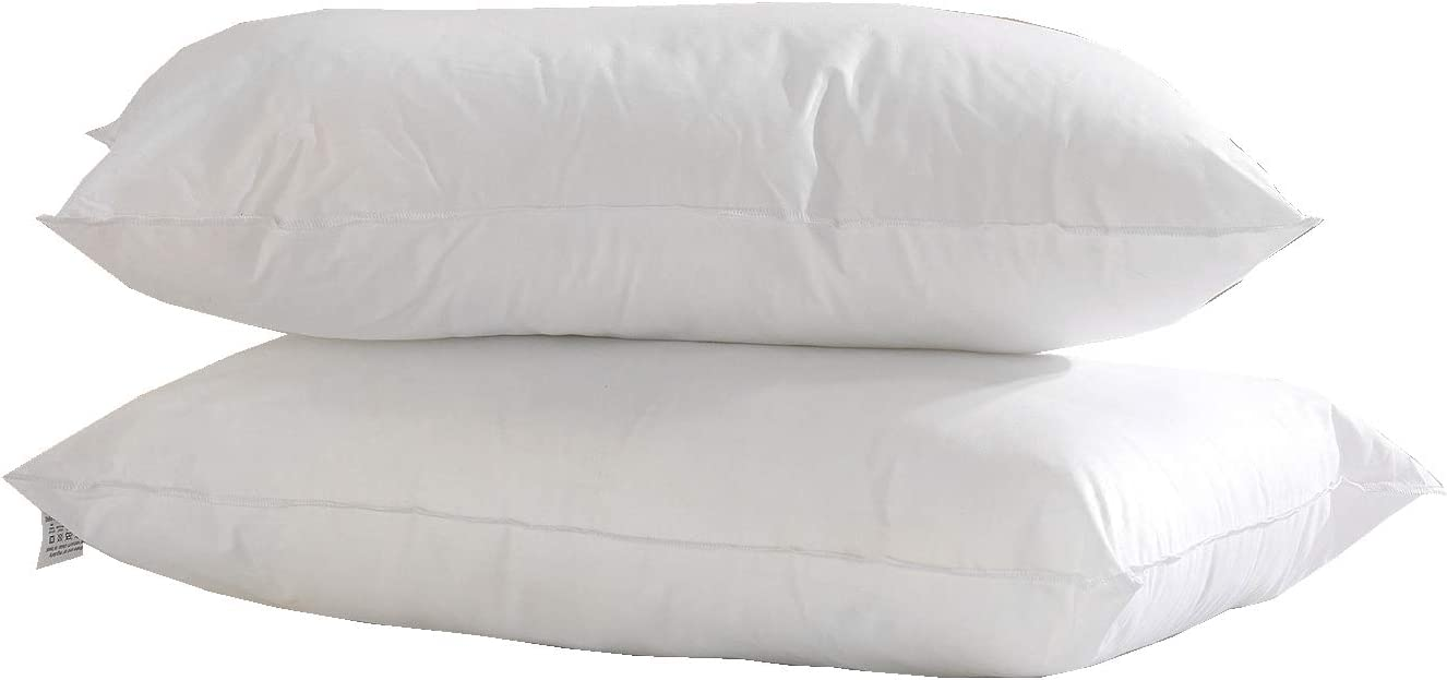 Hotel Quality Anti Allergy Soft Bounce Egyptian Cotton Pillow Pair Back Pillows