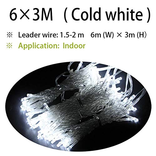 Led Icicle String Light Christmas 300led Fairy Light Garland Wedding Garden Party Home Patio Street Decoration