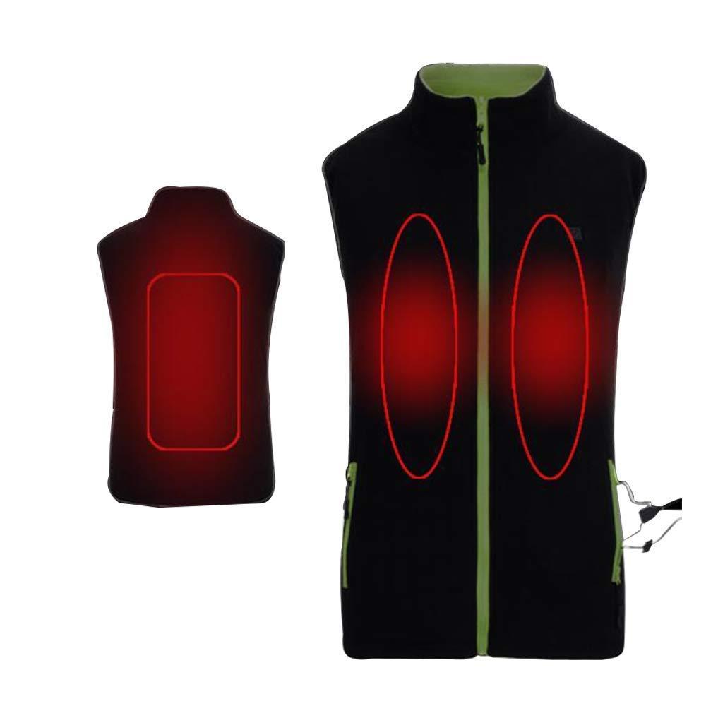 KINGWOLFOX Women's Reversible USB Adjustable Heated Fleece Vest Jacket