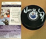Autographed Wayne Gretzky Edmonton Oilers Hockey Puck - JSA