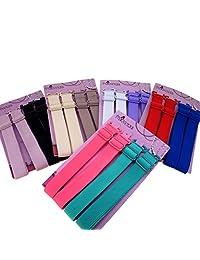 15mm Wide Band Fashion Stylish Bra Straps, Women's Accessories 10 Color Set