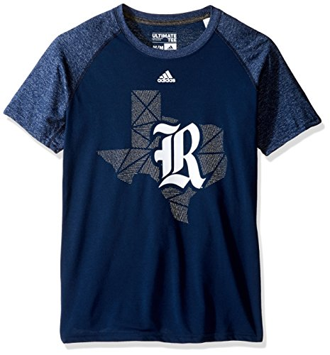 NCAA Rice Owls Adult Men Geometric Flow Climalite Ultimate S/Tee,Medium,Navy (Basketball Owls)