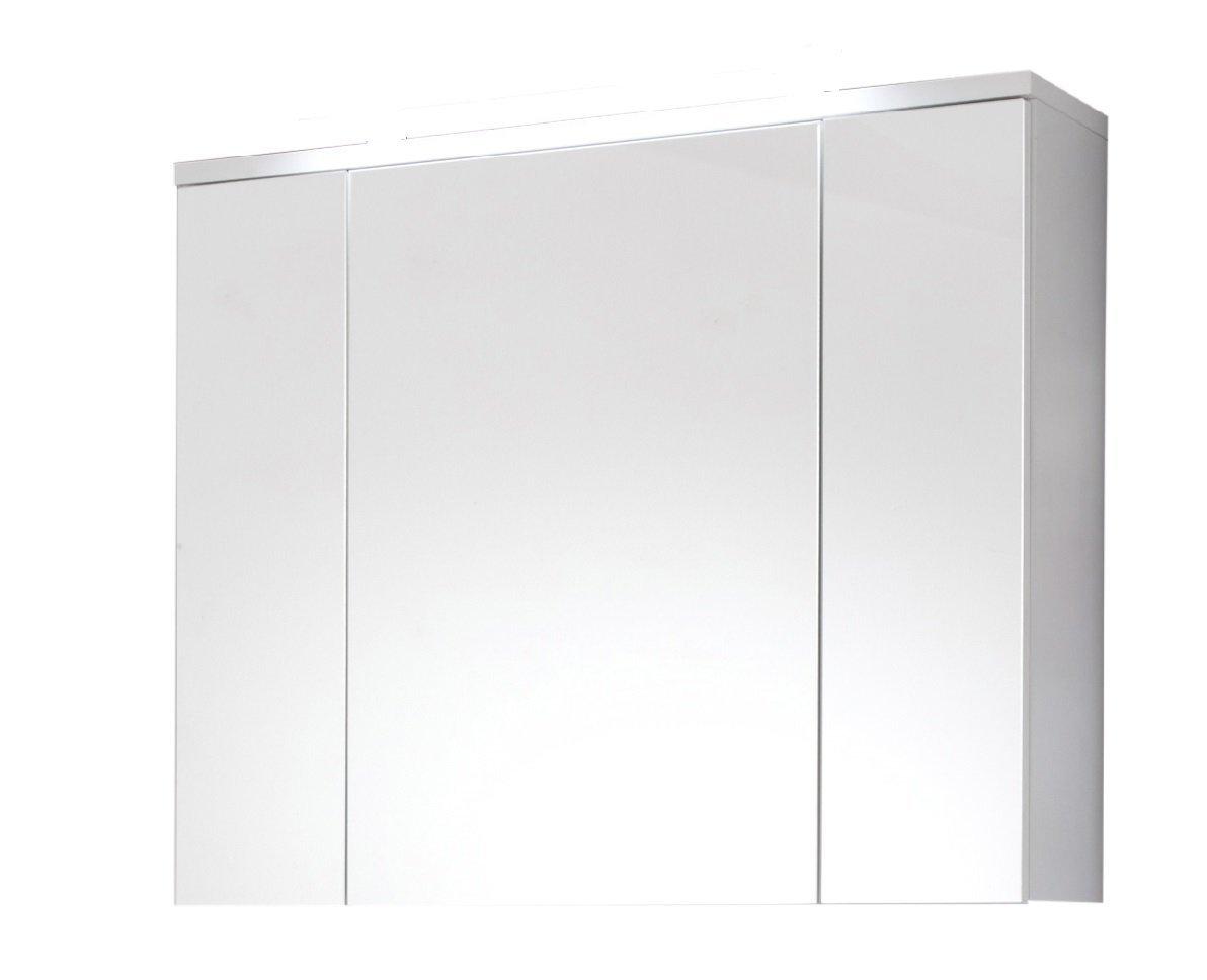 Trendteam smart living Badezimmer Spiegelschrank, Holzwerkstoff, weiß, 96 x 73 x 22 cm