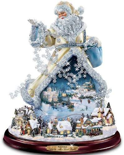 The Bradford Exchange Thomas Kinkade Moving Santa Claus Tabletop Figurine and to All A Good Night