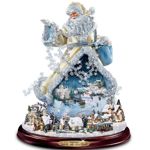 (Thomas Kinkade Moving Santa Claus Tabletop Figurine: And To All A Good Night by The Bradford Exchange)