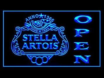 Amazon Com Stella Artois Beer Open Drink Led Light Sign Home Kitchen