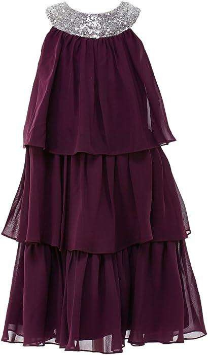 e895878e36f princhar Purple Sequin Flower Girl Dress Kids Toddler Junior Bridesmaid  Dresses US 2T .