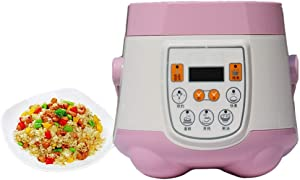 Mini Rice Cooker 1.8L 110V Multifunction Cooking Pot Electric Intelligent Insulation Heating Cooker 24 Hour Reservation Pink US