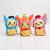 Pokemon Pikachu Magikarp Pikazard Gyarados Plush Stuffed Animals Doll Kids Toys 3pcs/Set