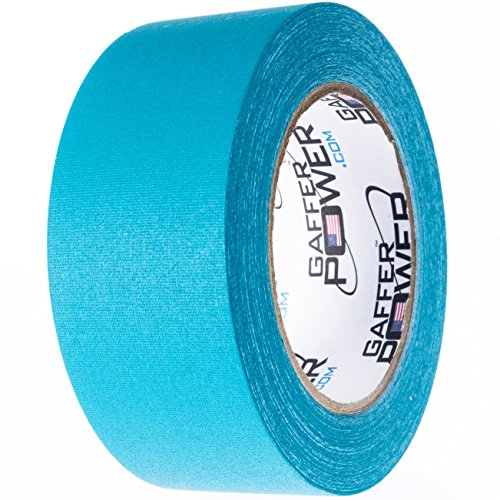 Real Premium Grade Gaffer Tape By Gaffer Power Made in the USA Teal 2 Inch X 30 Yds Heavy Duty Gaffer's Tape - Multipurpose - Better than Duct Tape - Peace Drum