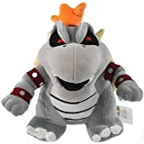 super mario bros bowser koopa dry bone grey 25cm plush doll toy RARE!