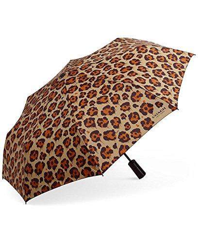 Coach Folding Full Size Umbrella Leopard