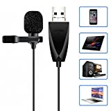 USB Microphone, ZAFFIRO Lavalier Mic Lapel Clip on Microphone for Computer PC, Laptop, Mac,Macbook,PS4. Perfect for Video Yutube Recording,Interviews,Skype,Vlogging,Podcast