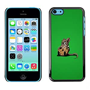 PC/Aluminum Funda Carcasa protectora para Apple Iphone 5C Rat Sweet Chees Lonely Rodent Cartoon Comic / JUSTGO PHONE PROTECTOR
