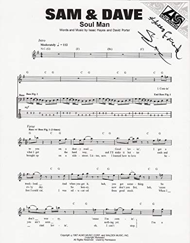 Sam Moore of Sam & Dave REAL hand SIGNED Soul Man sheet music COA from Loa_Autographs