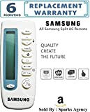 Compatible New Universal Remote Control for SAMSUNG Split AC's Remote With Dual Sensor Technology for better Range ( Works with All SAMSUNG Split Air Conditioner) No Setup Required