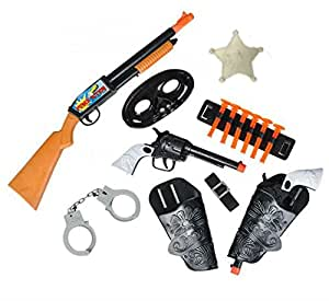 Amazon.com: 8 PC Western Toy Cowboy Gun & Holster Set ...