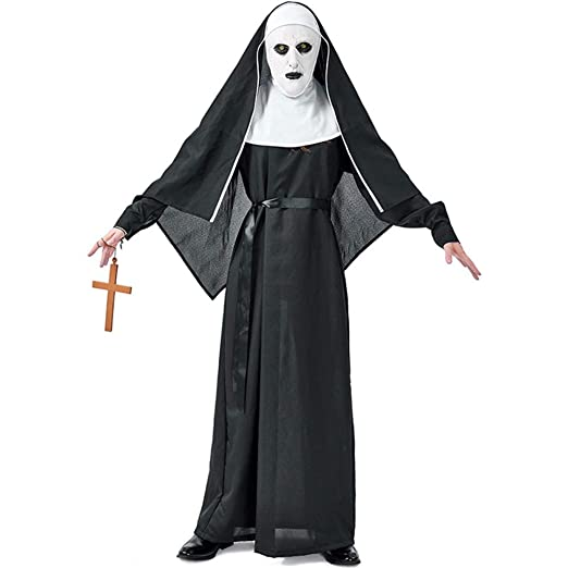 QWWR Disfraz de Halloween Horror Monasterio Fantasma Hermana ...
