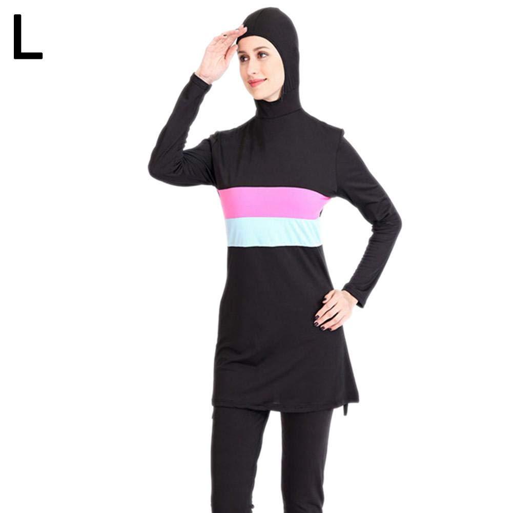 fllyingu Traje de ba/ño musulm/án de una Pieza Traje de ba/ño Conservador Traje de ba/ño Burkini Mujer de Hijab Traje de ba/ño isl/ámico