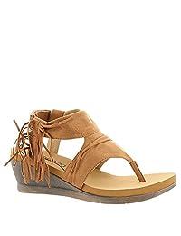 Bearpaw Women's Avril Comfort Thong Wedge Sandals