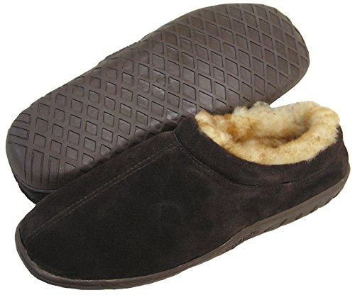 Ciabattas Heren Shearling Gevoerd Klomp Slide Slipper (bruin / Suede)