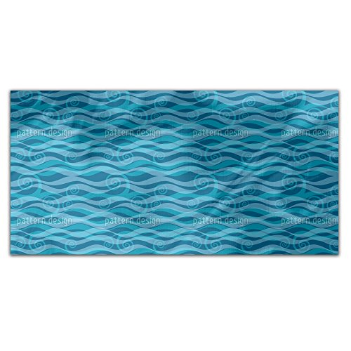 Triton Aqua Rectangle Tablecloth: Medium Dining Room Kitchen Woven Polyester Custom Print by uneekee