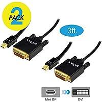 gofanco [2-pack] Gold Plated 3 Feet Mini DisplayPort to...