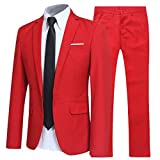 YFFUSHI Slim Fit 2 Piece Suit For Men One Button Casual/Formal/Wedding Tuxedo